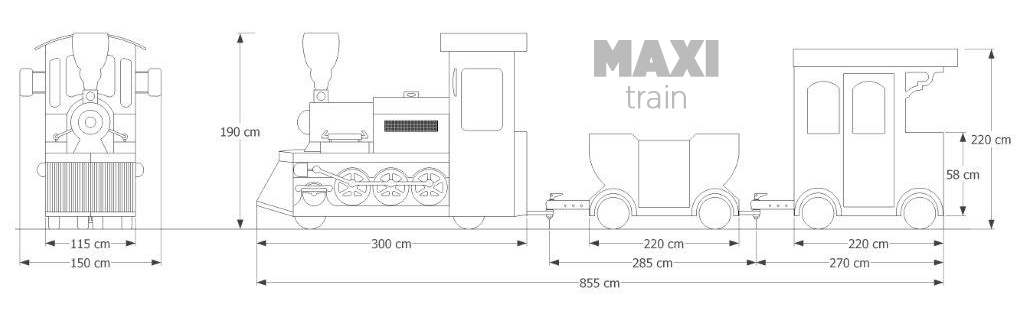 Trackless Train Maxi trackless train maxi dimensions