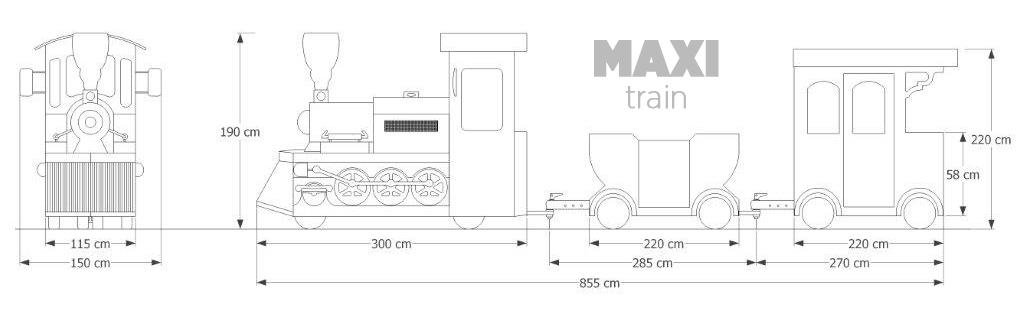 Trackless Train Maxi trackless train maxi dimensions