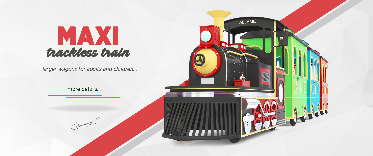 Trackless Train Maxi Trackless electric train Manufacturer